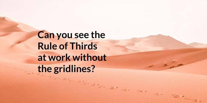 Can you see the Rule of Thirds at work without the gridlines?